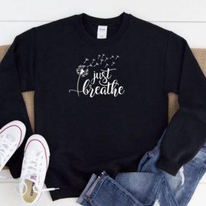 Just Breathe Crew Sweater